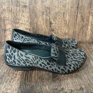 Dansko Loafers Leopard Print Calf Hair Women's 8